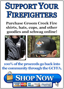 Firefighter shirts and hats